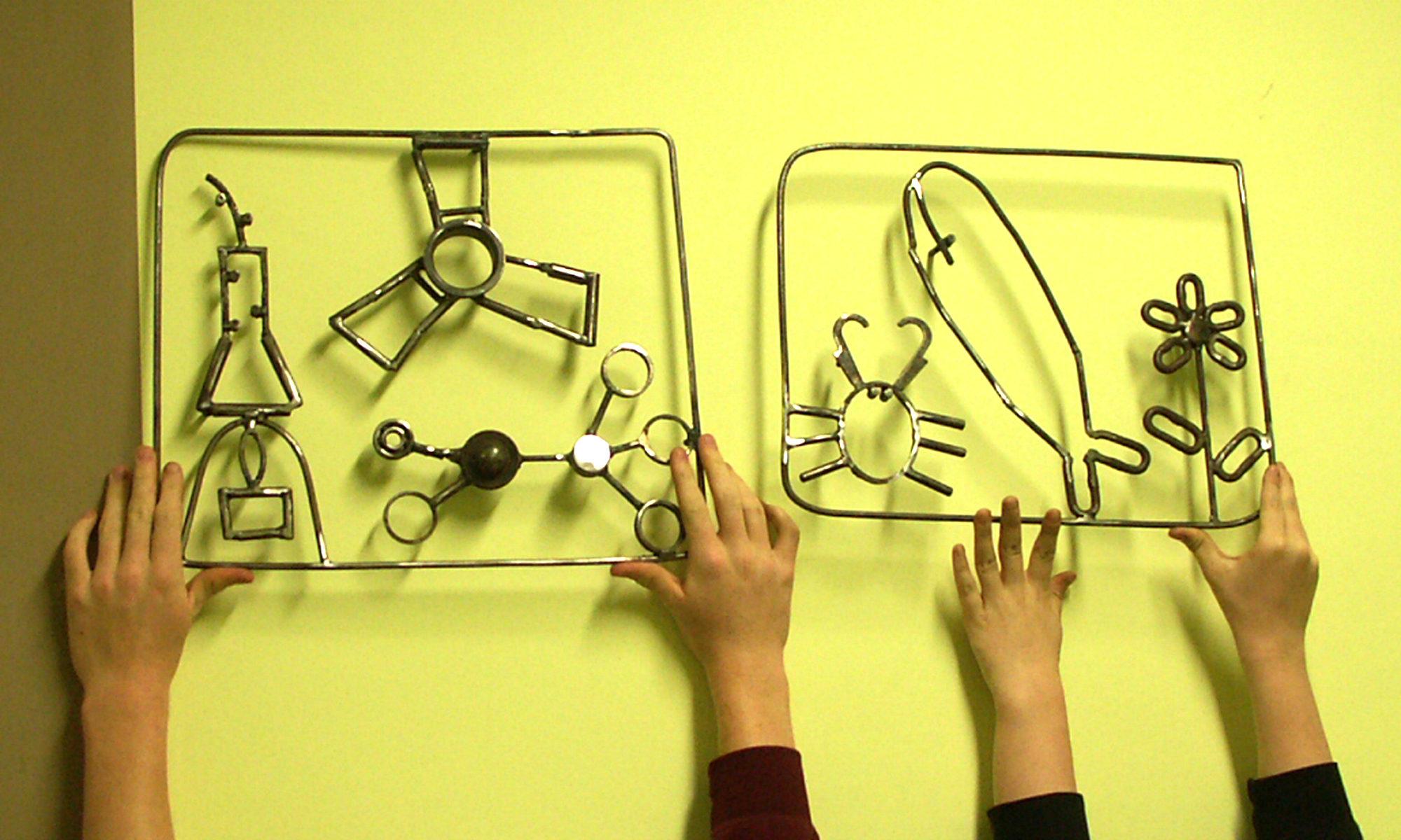 Schulprojekt Piktogramme, Carl-Diercke-Oberschule Kyritz, Schüler gestalten Piktogramme für Fachräume