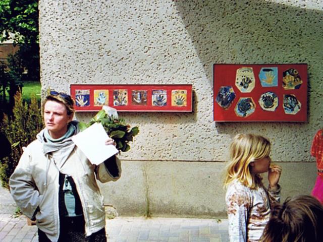 "Schul-Kunst-Projekt ""Spuren hinterlassen"" - Eröffnung"